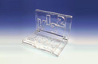 Number Pattern Cosmetic Container H810