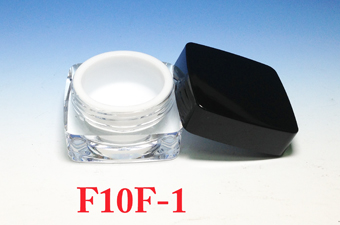Acrylic Cream Jars  F10F-1