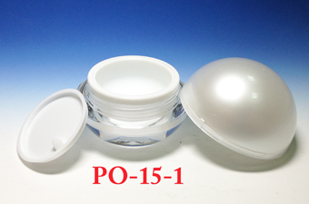 Acrylic Cream Jars PO-15-1